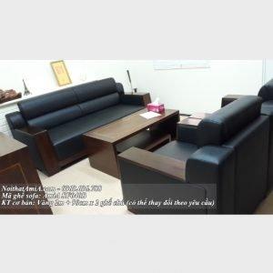 Ghe sofa phong lam viec tay op go sang trong AmiA SF040b