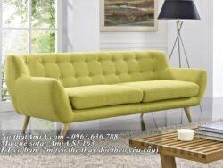 Ghế sofa văng nỉ hiện đại tựa lưng đính khuy AmiA SF163