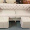Hình ảnh Sofa văng đẹp chất liệu da hiện đại cùng thiết kế 2 chỗ rút khuy