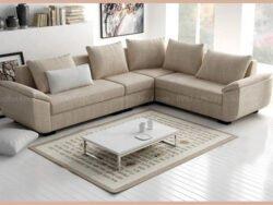 Mẫu sofa đẹp thiết kế trẻ trung, chất liệu vải nỉ