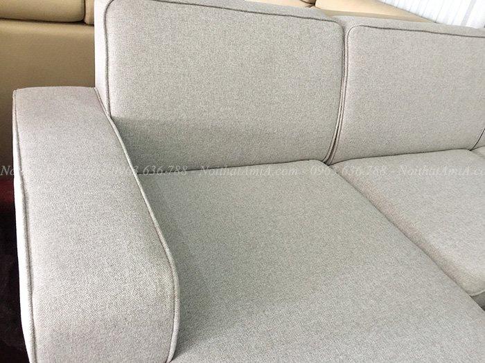 Hình ảnh chi tiết sofa nỉ đẹp chụp tại AmiA