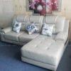 Hình ảnh Mẫu ghế sofa da đẹp hiện đại thiết kế dạng chữ L 3 chỗ