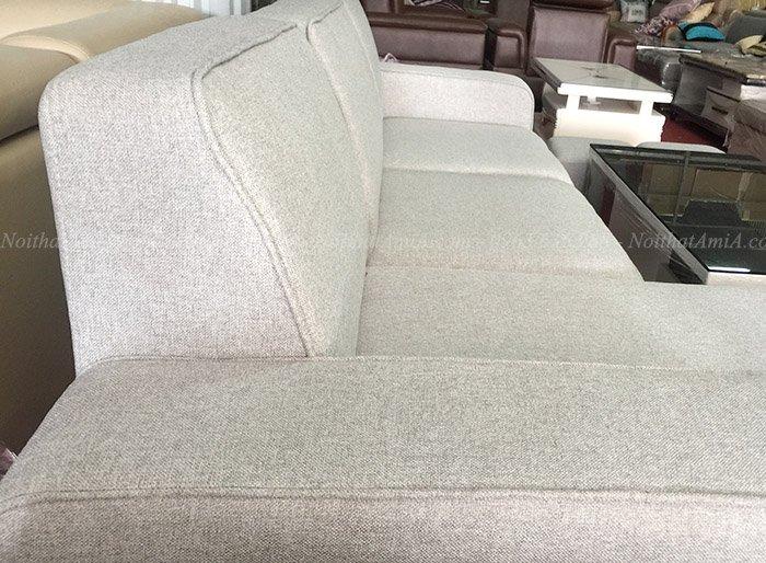 Hình ảnh Sofa nỉ đẹp phần tựa lưng thiết kế đơn giản mà chắc chắc