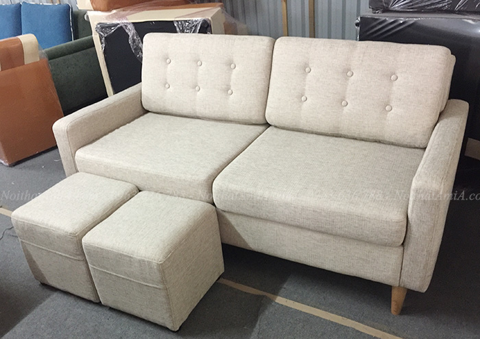 Hình ảnh Sofa văng nỉ đẹp xinh kích thước nhỏ cho nhà nhỏ