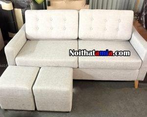 Sofa văng nỉ rút khuy phần tựa lưng đẹp