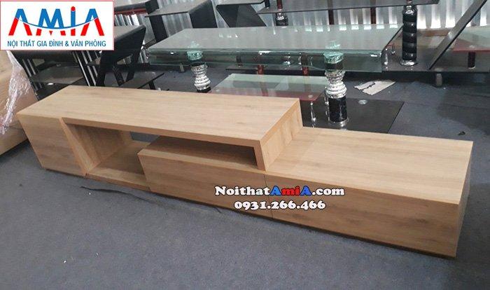 Hình ảnh Kệ tivi gỗ đẹp hiện đại tại Hà Nội cho căn phòng khách đẹp