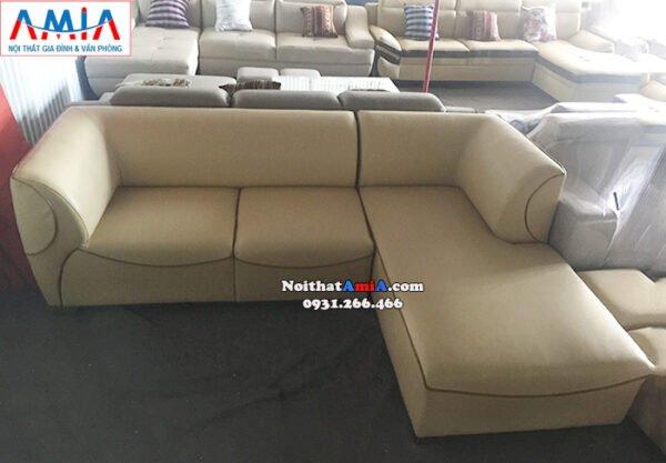 Hình ảnh Mẫu sofa da chữ L đẹp hiện đại cho phòng khách đẹp gia đình
