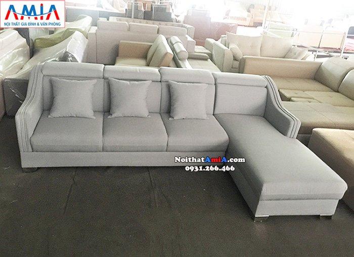 Hình ảnh Sofa góc nỉ đẹp hiện đại thiết kế 4 chỗ cho phòng khách
