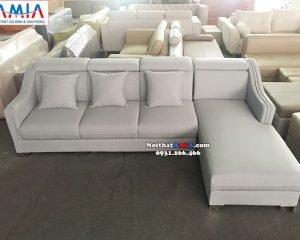 Hình ảnh Mẫu sofa góc vải nỉ hiện đại thiết kế 4 chỗ hình chữ L