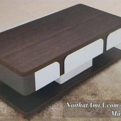 Hình ảnh bàn trà bàn sofa mặt gỗ mã AmiA BT 21