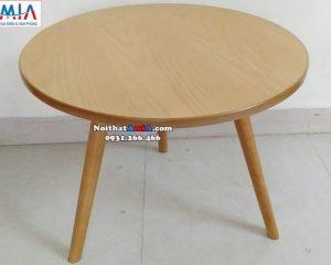 Hình ảnh Mẫu bàn trà sofa hiện đại hình tròn cho phòng khách đẹp nhỏ xinh