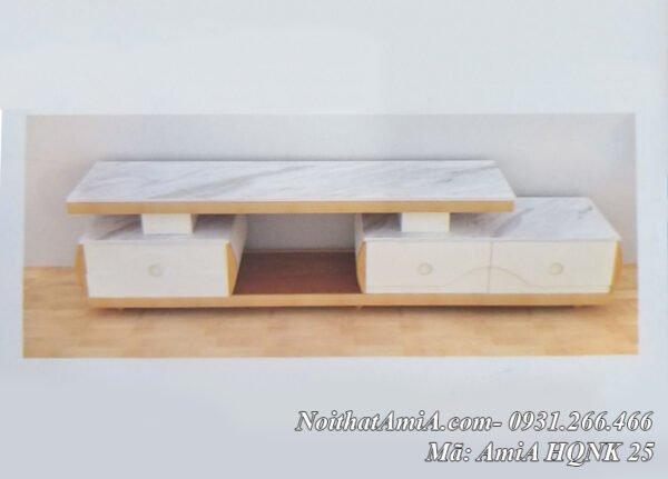 Hình ảnh mẫu kệ tivi mặt đá màu trắng hiện đaiị AmiA HQNK 25