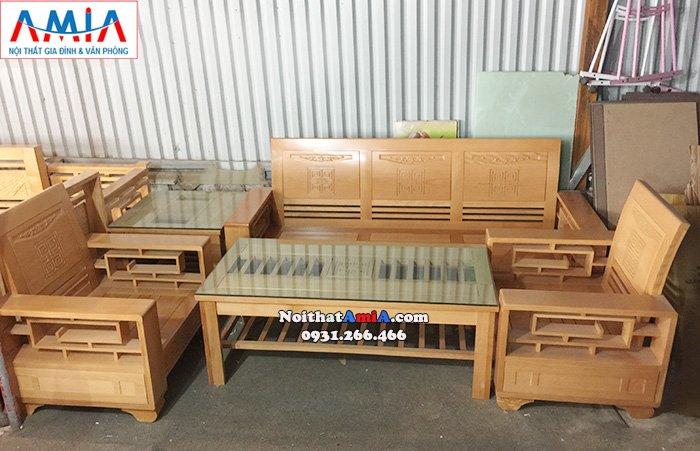 Hình ảnh Mẫu bàn ghế sofa gỗ đẹp hiện đại giá rẻ tại Hà Nội