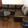 Sofa da góc chữ L hiện đại AmiA mã 190