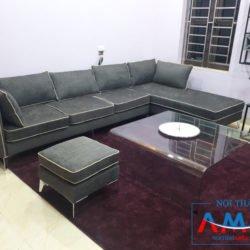 Ghế sofa nỉ cho phòng khách rộng Amia SF191