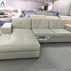 Hình ảnh Mẫu sofa giá rẻ cho nhà có trẻ nhỏ thiết kế hình chữ L hiện đại 3 chỗ