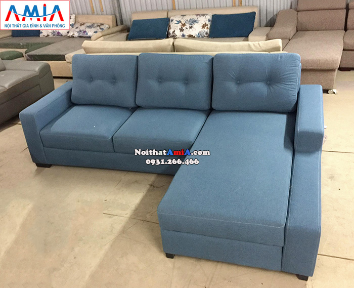 Hình ảnh Mẫu sofa nỉ đẹp giá rẻ kê phòng khách nhỏ, nhà nhỏ, chung cư nhỏ