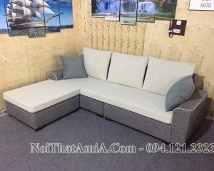 Ghế sofa AmiA 200 nỉ góc chữ L hiện đại