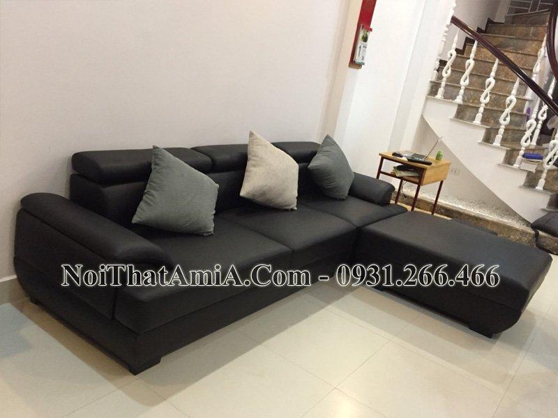 Sofa kê phòng khách văng da mã Amia SF093B