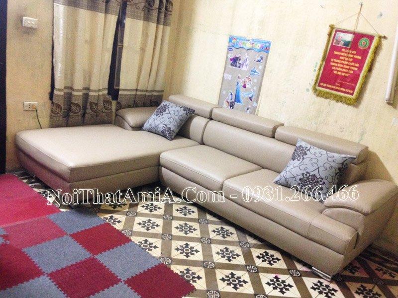 Sofa phao tay nệm ngồi êm ái Amia sf093