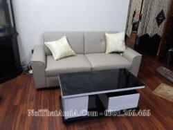 Sofa văng da phòng khách nhỏ AmiA 202