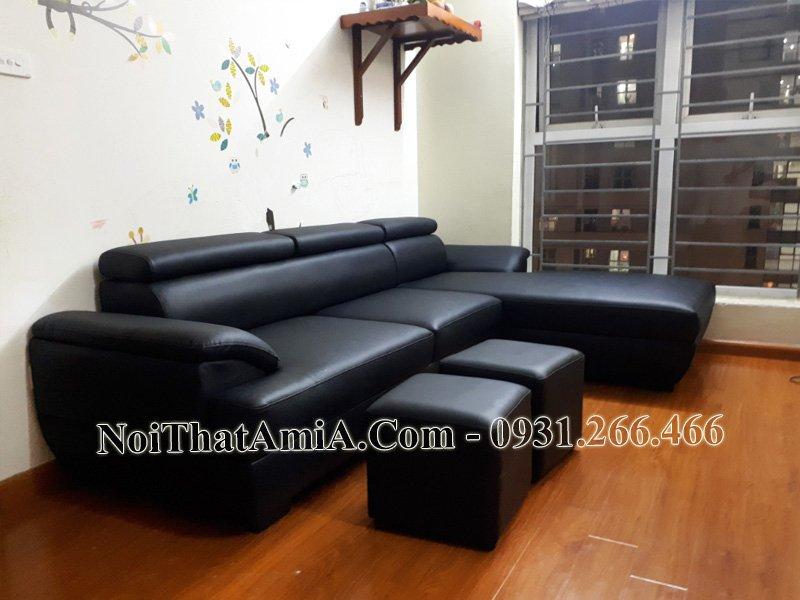 Sofa phòng khách chữ L cho nhà chung cư AmiA sf093