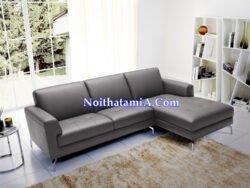Ảnh mẫu sofa da góc L đẹp hiện đại nhất SFD215