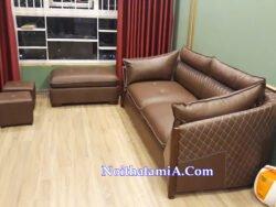 Mẫu ghế sofa văng da đẹp kiểu mới SFD212