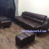 Bộ ghế sofa văng da giá rẻ SFD211 màu nâu đậm