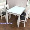 Ảnh mẫu bàn ăn gia đình đẹp màu trắng BA019