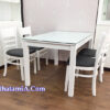 Mẫu bàn ăn gia đình đẹp tại nhà khách hàng BA019