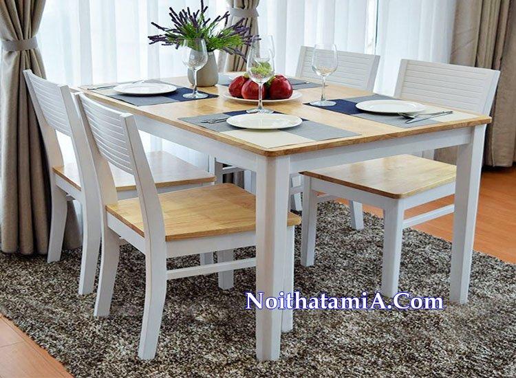 Ảnh mẫu bàn ăn gia đình giá rẻ 4 ghế BA021