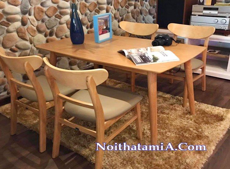 Mẫu bàn ăn gia đình hiện đại đẹp BA023
