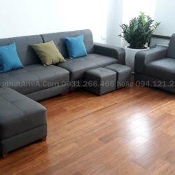 Ghế sofa da hiện đại đẹp SFD205
