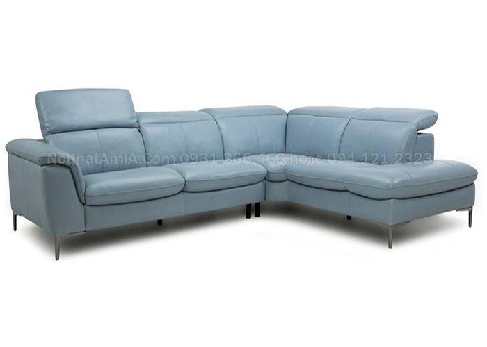 Mẫu sofa da góc chữ L sang trọng bán chạy SFD209 làm theo yêu cầu