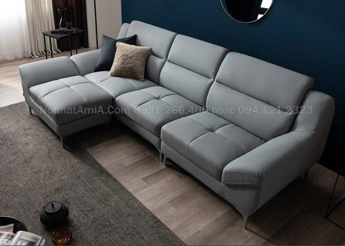 Mẫu sofa da đẹp sang trọng bán chạy SFD211 xanh kem