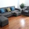 Ghế sofa da hiện đại đẹp cho chung cư SFD205