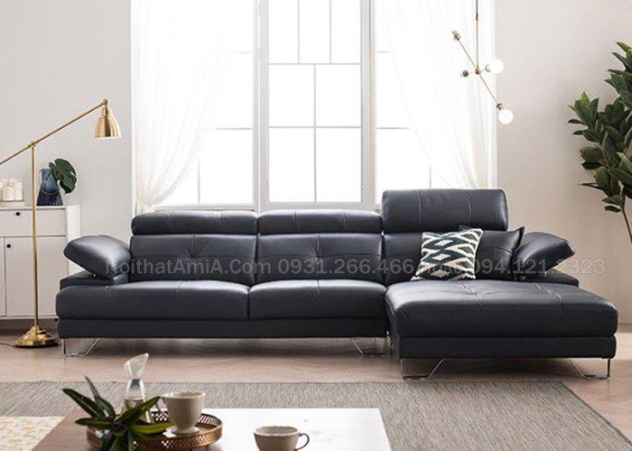 Mẫu ghế sofa góc da cho phòng khách hiện đại, sang trọng SFD207