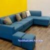 Ghế sofa góc L SFN218 màu xanh nhạt