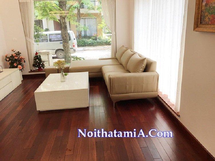 Ghế sofa góc da giá rẻ cho nhà phố SFD223