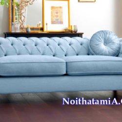 Bộ ghế sofa văng nỉ cổ điển đẹp SFN220
