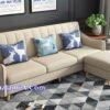 Mẫu ghế sofa văng nỉ đẹp hiện đại màu kem sữa SFN217