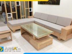 Bộ ghế sofa gỗ sồi tự nhiên góc chữ L AmiA SFG4120
