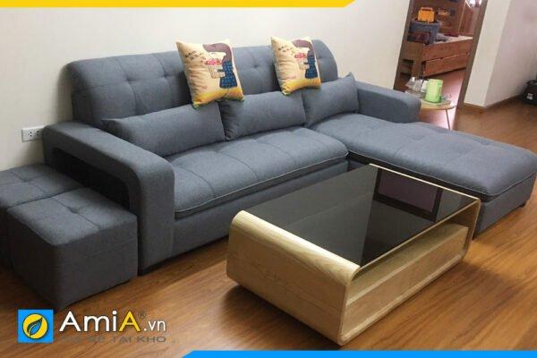Ghế sofa nỉ kiểu góc chữ L màu ghi AmiA SFN 2920