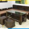 Bộ ghế sofa gỗ tự nhiên AmiA 4220