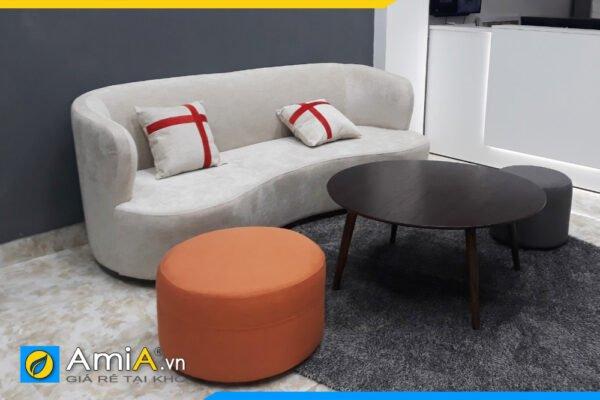 Ghế sofa nỉ dáng cong trẻ trung hiện đại AmiA SFN250
