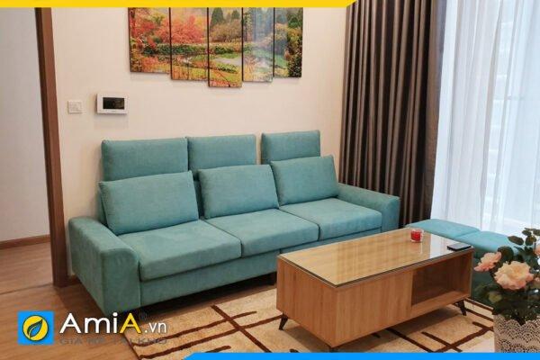 Ghế sofa văng nỉ 3 chỗ ngồi màu xanh trẻ trung AmiA SFV2420