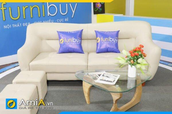 Ghế sofa văng da trẻ trung hiện đại AmiA SFVFB163