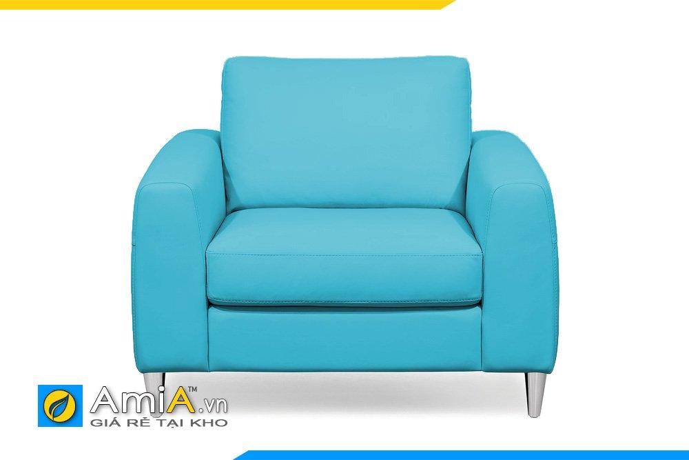 Ghế sofa đơn màu xanh điểm nhấn cho phòng ngủ, phòng đọc sách hiện đại, trẻ trung