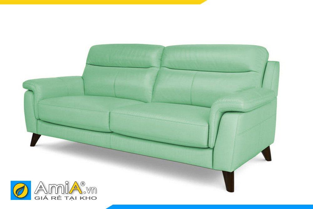 Sofa văng màu xanh lơ tạo điểm nhấn mát mẻ cho căn phòng màu xanh lam